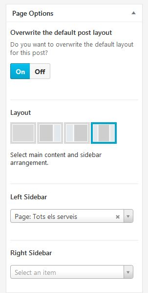 Page options layout 2